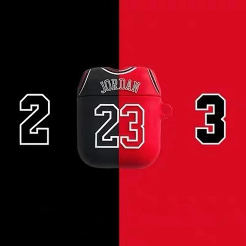 Silica Bluetooth Earphone Case Chicago Bull 23 Jordan For Apple Airpods Case Wireless Headphone Set Cover For Boy