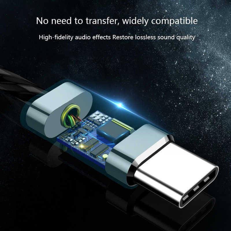 タイプ C USB 有線イヤホンスーパーバスステレオヘッドフォンヘッドセット音楽ハイファイスポーツヘッドセットマイク低音 Xiaomi Huawei 社サムスンヘッドフォン