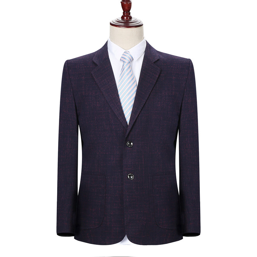 Man Elegant Blazer Autumn Spring Smart Business Casual Jacket Suits Men Red Blue Tailored Balzers Outfits Male Classical Garment