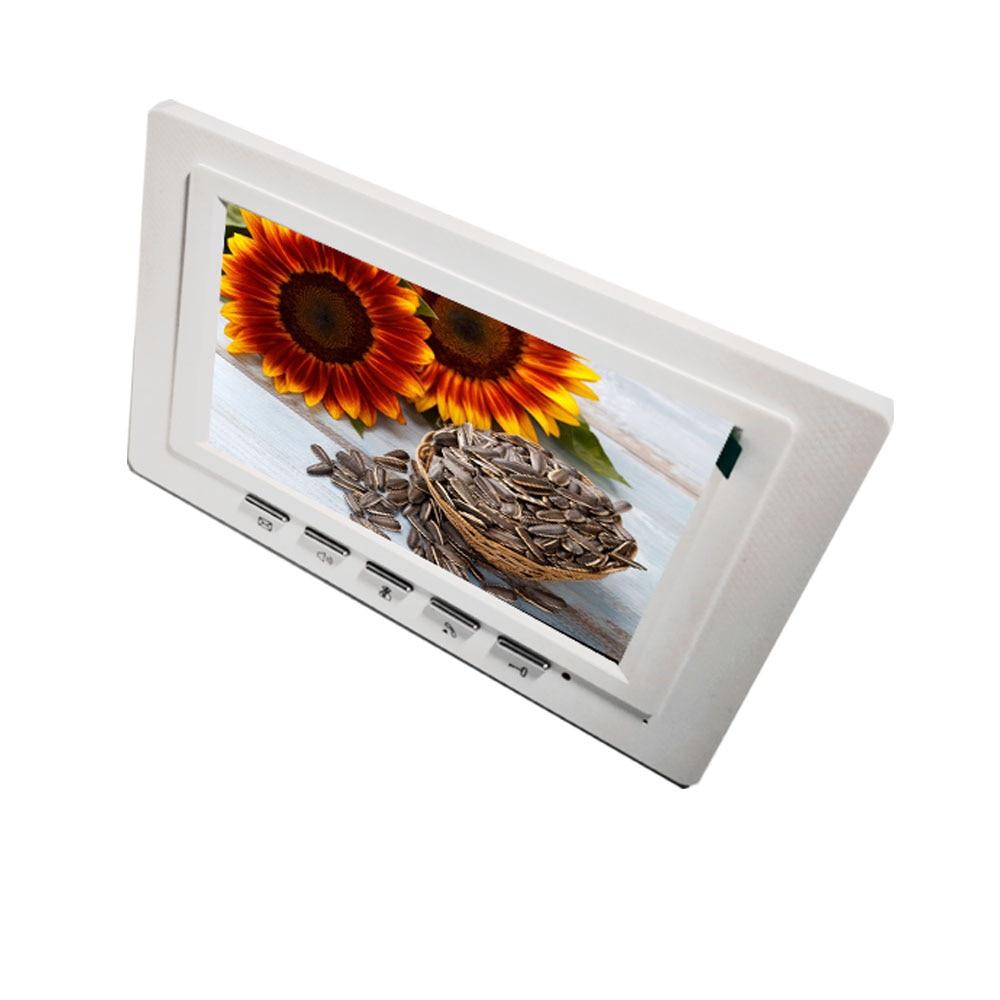 Купить с кэшбэком Fullvisual  7 Inch Video Doorbell Intercom Video Door Phone Camera Dual Way Talk Unlock 1200TVL Metal Outdoor Unit IR Night View