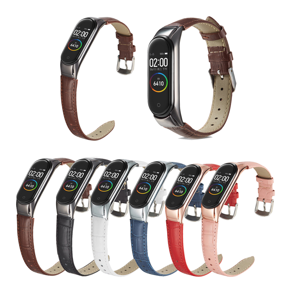 Genuine Leather Bracelet For Xiaomi Mi Band 3 Wristband Strap Replacement Watch Band Smart Accessories For Xiaomi Mi Band 4 Belt
