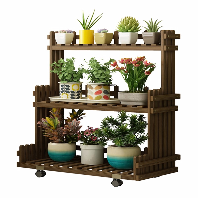 Wood Household Indoor Multi-storey Balcony A Living Room Shelf   European Style