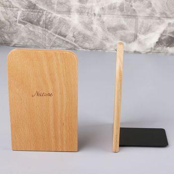 Natura drewniany Organizer na biurko pulpit biuro strona główna Bookends antypoślizgowa książka kończy się stojak uchwyt półka XXUC tanie i dobre opinie XXUC5AC1100922-02 Drewna piece 0 115kg (0 25lb ) 30cm x 20cm x 10cm (11 81in x 7 87in x 3 94in)