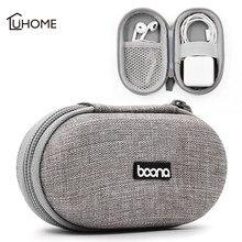 Mini caso de fone de ouvido portátil u disco armazenamento caixa de fone de ouvido de armazenamento para cartão de memória usb cabo carregador organizador