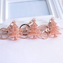 Christmas Ornaments Keychain Metal Rhinestone Gift Sturdy And Durable, Not Wearable, Exquisite And Beautiful Personality(China)