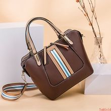 Napa pattern leather splicing women's bag European and American style cowhide versatile portable Single Shoulder Messenger Bag frommer s® portable napa