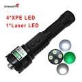 Uranusfire puissant chasse vert Laser lampe de poche tactique 520nm torche lumière 18650 batterie 4 * XPE + 1 * Laser LED lampe de poche Laser