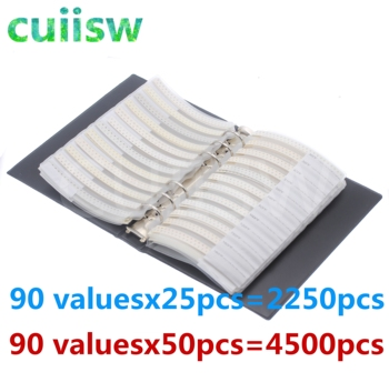 0603 SMD Capacitor Sample Book 90valuesX50pcs=4500pcs 0.5PF~2.2UF Capacitor Assortment Kit Pack 6
