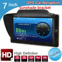 7 pulgadas TFT LCD HD coche MTK navegación GPS 800Mhz FM DDR3 128M 4GB FM windows CE6.0 bluetooth camión 800*480 navigator