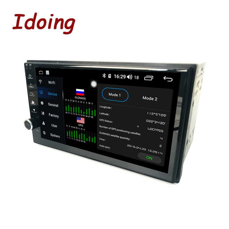 "Idoing 7 ""Android 4G + 64G Octa Core 2Din Video Per Universale Car Multimedia Radio Player 1080P DSP GPS + Glonass 2 din no DVD"