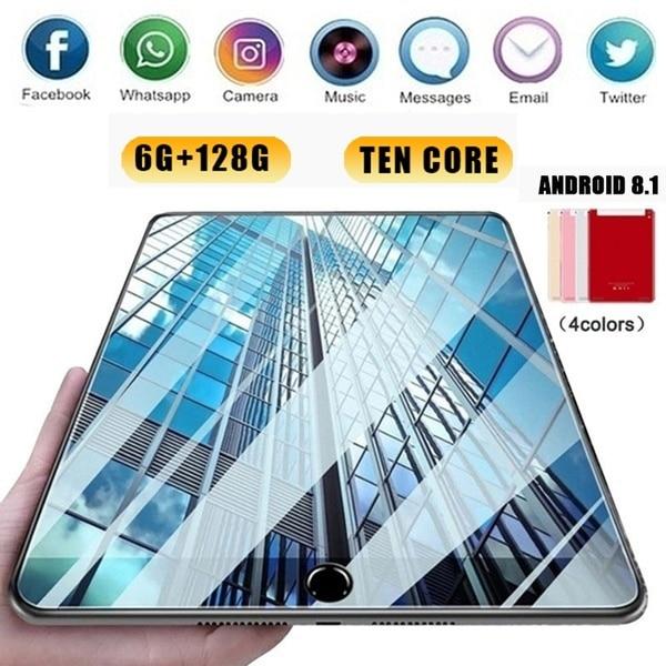 2020 wifi android tablet pc 1280*800 ips tela 10 Polegada dez núcleo 6g + 128g android 8.1 duplo sim câmera dupla 5mp 5000mah