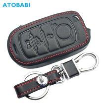 Étui en cuir pour clés de voiture Fiat 500X Toro nuovni, télécommande pliable à 4 boutons, sac de protection pour porte-clés, accessoires automobiles