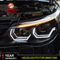 Car Styling Case For BMW E60 headlights 2003 2010 E60 Headlight 523i 530i LED Headlight DRL Lens Double Beam HID Xenon