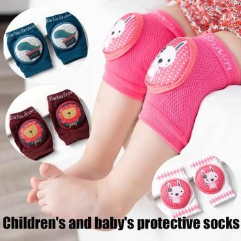 Dziecięce ochraniacze na kolana antypoślizgowe pełzające ochraniacze na łokcie ochraniacze na kolana 2 szt Nadruk kreskówkowy śliczne ochraniacze na kolana # D35 tanie i dobre opinie 0813
