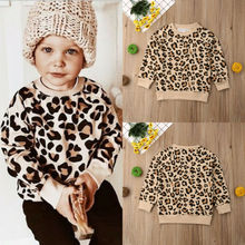 2019 Canis Spring Easter Kids Baby Girl Boy Bunny Long Sleeves Leopard Print T-shirt Sweatshirts Jacket Coat Autumn Clothing цена и фото