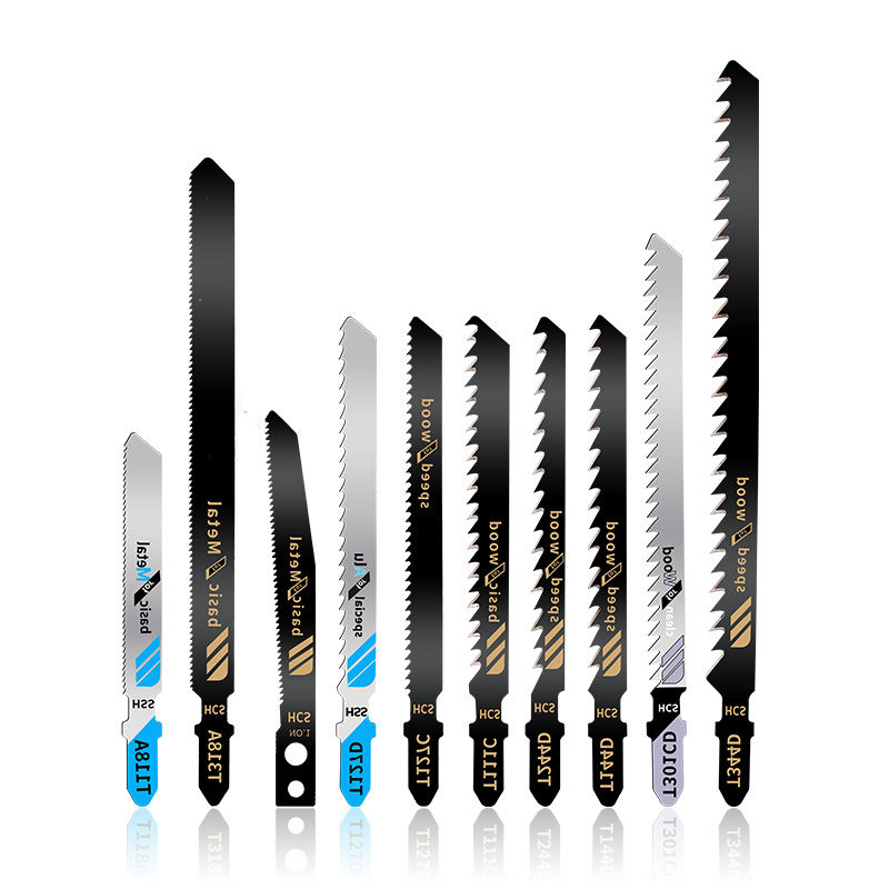 50PC Saw Blades T-Shank Jigsaw Blades Assorted Blades For Wood Plastic Metal Cutting Saw Blades Made With HCS/HSS/BIM