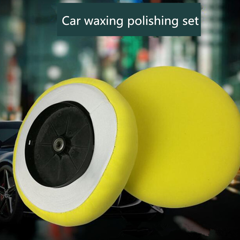 5/7/9Inch Car Waxing Polishing Set Round Sponge Polishing Waxing Set Polishing Pad For Car Polisher Pulidora     Car Accessories