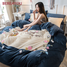 Luxury Velvet Bedding Sets Pink Princess Bed Set Vintage Queen King Size Duvet Cover Bed Linen Winter Comforter постельное белье