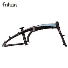 Fnhon 20″ 406 451 Folding Bike Frameset Chrome 4130 Steel Frame Alloy Fork Disc Brake V Brake  22inch Bicycle Foldable Frame