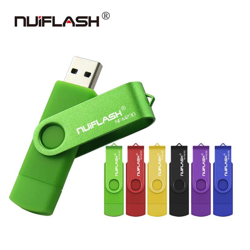 Nuiflash usb flash sürücü OTG yüksek hızlı sürücü 64 GB 32 GB 16 GB 8 GB 4 GB harici depolama çift uygulama mikro usb sopa