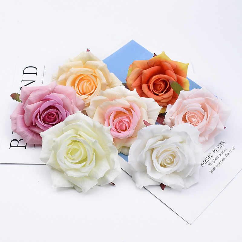 2/5/10 stuks Kerst home decoratie decoratieve bloemen kransen bruiloft scrapbook bloemen muur zijden rozen kunstmatige bloemen