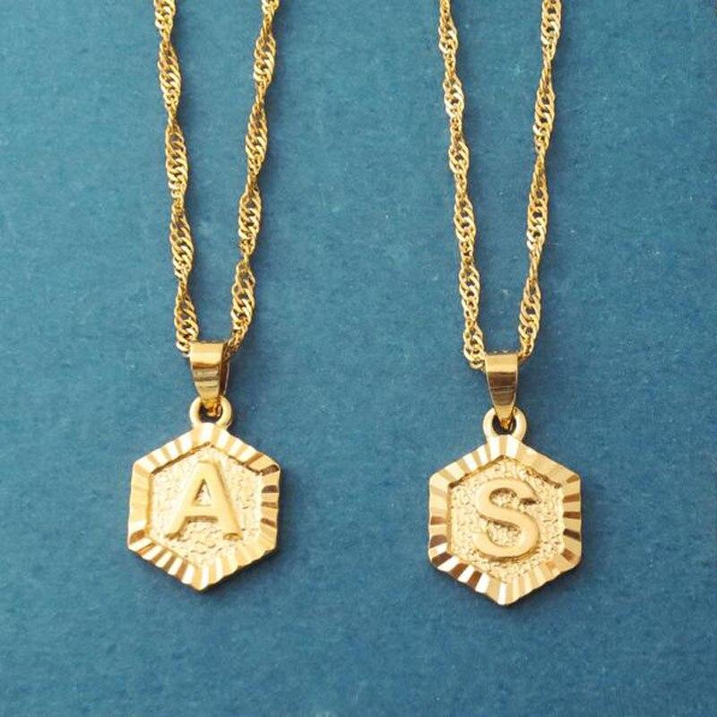Минимализм первоначального ожерелья с буквой для женщин ювелирные изделия в стиле бохо из нержавеющей стали Алфавит кулон ожерелья лучший друг подарки Bff