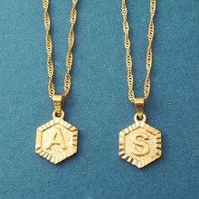 Minimalismo personalizado letra inicial collares A B C joyería personalizada encanto medallón colgante collares mejor amigo regalos Bff