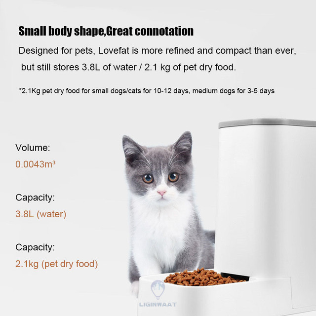Automatic Pet Feeder 3.8L Dispenser For Cats & Dogs 3