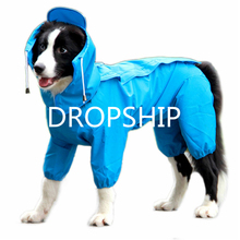 RUSSIA Dog Raincoat, Fashion Four-Legged Hooded Pet Raincoat Rain Jacket Jumpsuit Poncho Coat Slicker Camouflage Russia
