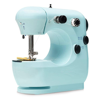 Mini Electric Sewing Machine Portable Household Beginner Tailors Crafting Mending FAS6