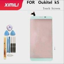 5.7 נייד מגע מסך זכוכית מגע מסך עבור Oukitel K5 מגע מסך זכוכית Digitizer פנל עדשת חיישן כלים משלוח דבק