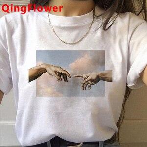 Michelangelo Aesthetic Harajuku T Shirt Women Ullzang Vaporwave T-shirt Vintage 90s Graphic Tshirt Fashion Anime Top Tees Female
