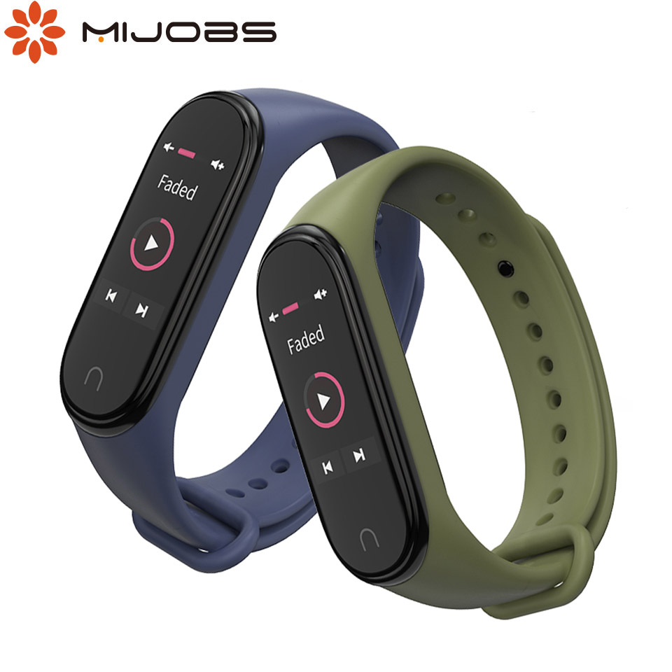Mijobs For Mi Band 4 Strap Bracelet For Xiaomi Mi Band 4 Strap In Smart Wristband Silicone Mi Band 3 Correa For Accessories
