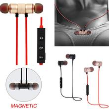 Xt-6 Fashion Magnetic Wireless Bluetooth 4.1 Earphone Sweatproof Sports Music Earpiece Stereo Headset With Microphone недорго, оригинальная цена
