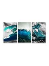 Настенные художественные плакаты с изображением синего моря