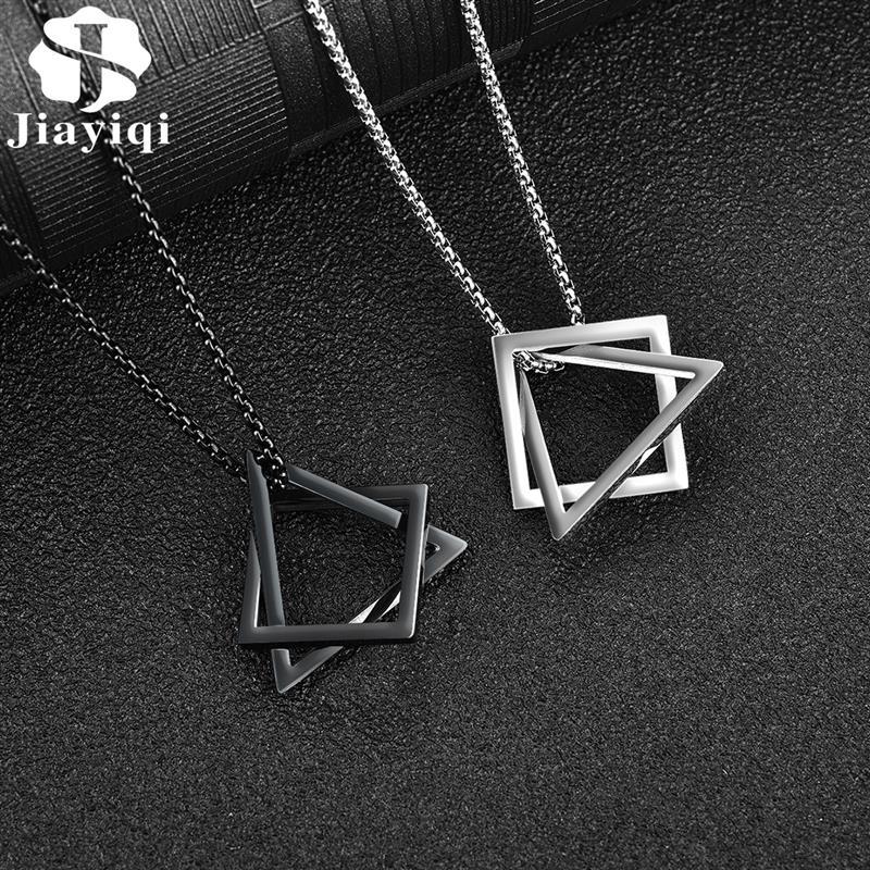 Mode Einfache Anhänger Halskette für Männer Frauen Edelstahl Geometrische Verriegelung Kette Choker Männlichen Schmuck Zubehör Geschenke