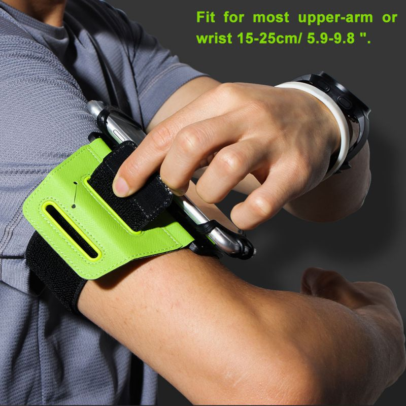 4-6 Inch 180 Degree Rotatable Running Bag Belt Armband Touch Screen Cell Phone Case Holder Cycling Gym Arm Band Bag Men Women