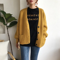 2019 Women sweater lady female Autumn Cardigans Casual Long Sleeve Knitted Winter Thick Loose Solid women pullover #CFHY