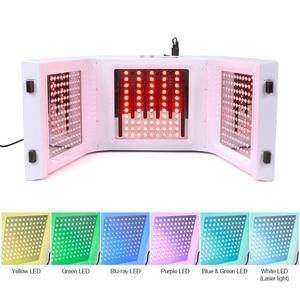 Image 5 - 7 renk LED yüz foton ışık tedavisi PDT lamba güzellik cilt makinesi arıtma rejenerasyonu yüz sıkın Anti aging akne sökücü