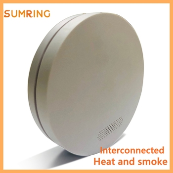 11 11 Hot sprzedaży dymu i ciepła połączone alarmy 433mhz ogień DC3V baterii czujniki dymu inteligentny dom tanie i dobre opinie CN (pochodzenie) SR-820 Czujka dymu