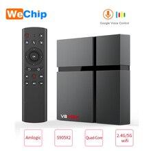 V8 最大スマートアンドロイド 8.1 tvボックス 4 ギガバイトのram 32 ギガバイト 64 ギガバイトamlogic S905X2 LPDDR3 wifiワイヤレスセットトップボックス 4 18k hd youtube 2GB16G ott tvbox