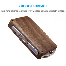 Wooden Key case for Volvo 2015 2019 XC90 S90 V90 2018 XC60 Remote Control Refit Wooden Car Key Fob Shell Replacement (case only)