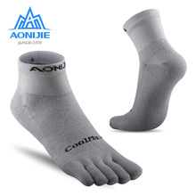 Crew Socks AONIJIE Women Cycling Running Sports No-Blister Coolmax for Climbing Athletic