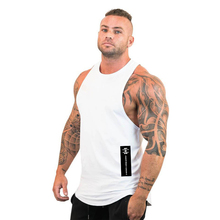 New Men Tank Tops Bodybuilding Stringer Fitness Singlets Gym