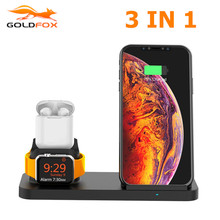 Qi Wireless Charger for iPhone 12 SE2 11 pro XR XS Max Samsung 10W Fast Wireless Charging Stand for Airpods apple watch 4 3 2 1