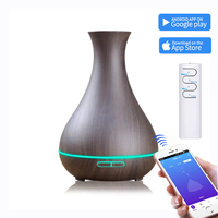 550ml for Home bedroom Ultrasonic Essential Oil Diffusers Air Humidifiers Wood Grain Diffuser Aroma Mist Maker with
