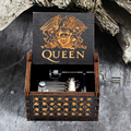 Новая Черная музыкальная шкатулка Queen, богемная песня на тему Rhapsody, деревянная ручка, красавица, чудовище, не может влюбиться, рождественски...