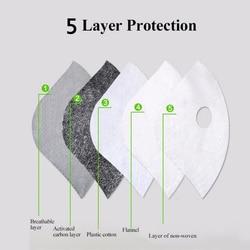 10 sztuk PM2.5 Maska jednorazowa filtr węgiel aktywny maski filtr Anti PM2.5 Maska z filtrem przeciw zanieczyszczeniom powietrza Maska twarzy filtry 4