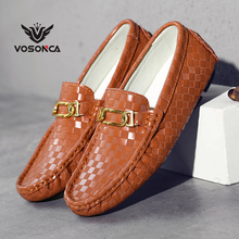 Vosonca 2019 New Men Shoes Fashion Loafers High Quality Genuine Leather Casual Brand Flats Driving