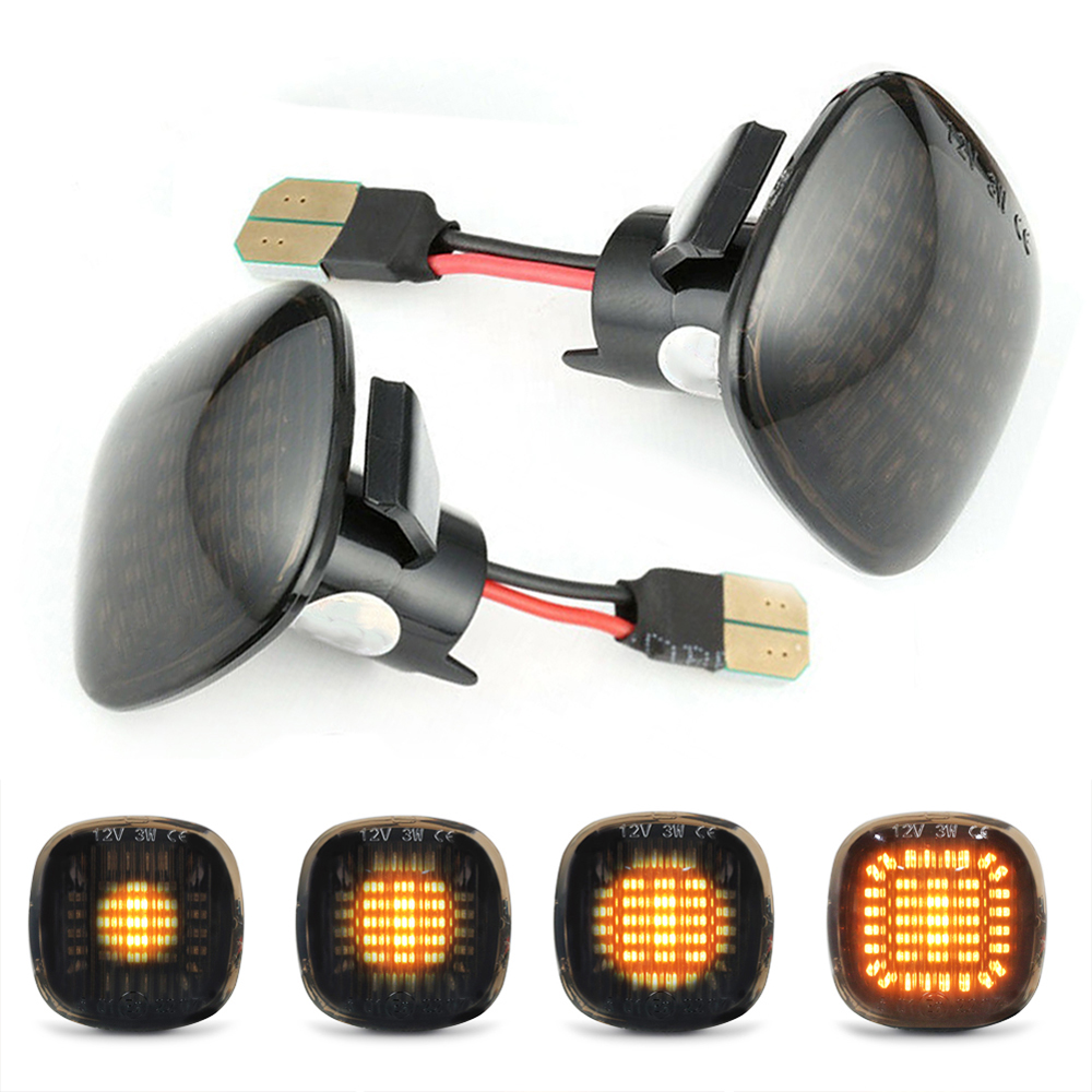 2pcs <font><b>LED</b></font> Car Side Turn Light Gradient Signal Lamp For <font><b>Audi</b></font> A3 8L 1996 - 2000 <font><b>A4</b></font> <font><b>B5</b></font> 1994 - 1999 A8 D2 1994 - 2002 image